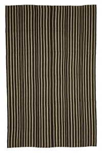 Turkish Natural Rug Vertical Striped Turkish Kilim rug 6x9 Feet  178,280