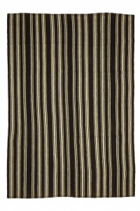 Turkish Natural Rug Vertical Striped Turkish Kilim Rug 6x9 Feet  182,264