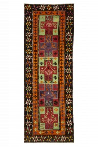 Turkish Rug Runner Vintage Kilim Rug Runner 4x12 Feet 130,360