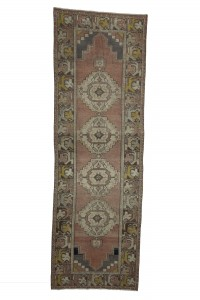 Turkish Rug Runner Vintage Oushak Runner Rug 3x9 Feet 92,280