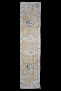 Turkish Rug Runner Vintage Rug Runner 3x12 Feet 87,358