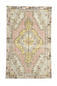 Turkish Carpet Rug Vintage Soft Color Turkish Carpet Rug 4x7 128,202