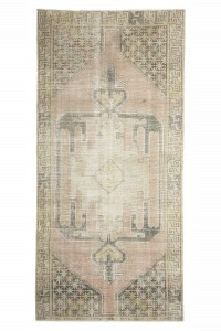 Turkish Rug Runner Vintage Turkish Rug 4x9 Feet 126,268