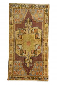 Turkish Carpet Rug Yellow Turkish Carpet Rug 4x7 Feet 118,224